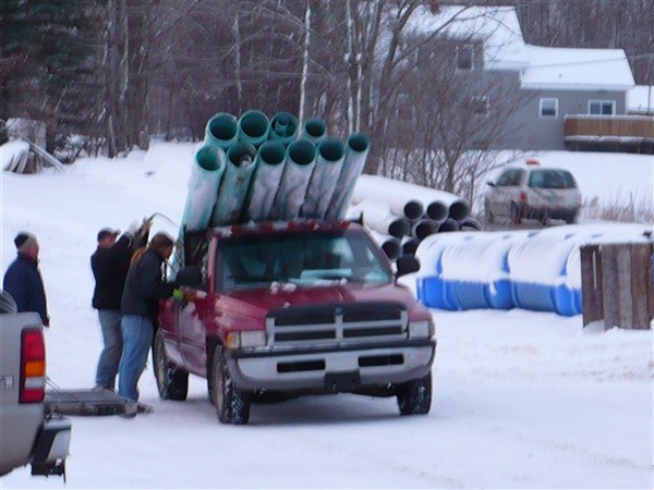 Truck load of pvc pipe