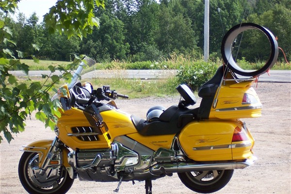 Yellow motor bike